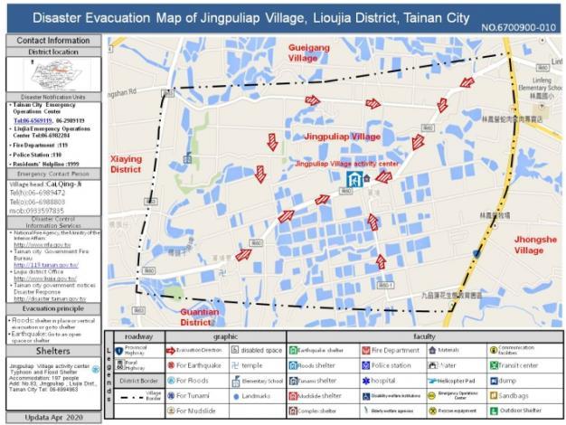 Disaster Evacuation Map of Jingpuliap Village