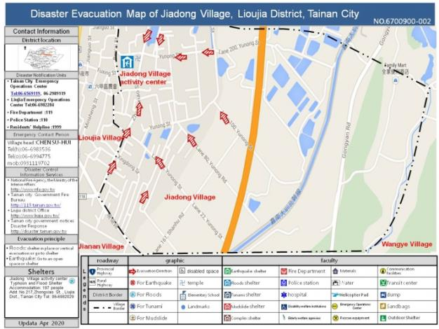 Disaster Evacuation Map of Jiadong Village
