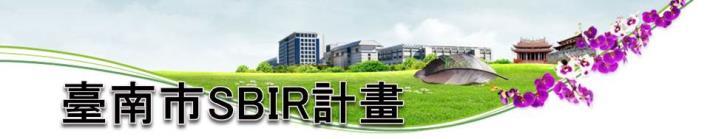 臺南市SBIR計畫