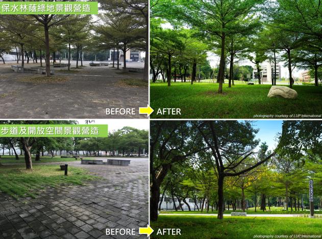 保水林蔭綠地、步道及開放空間景觀營造