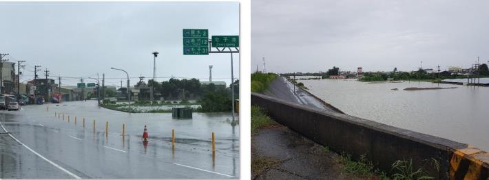 學甲平和里、宅港里社區107年8月豪雨淹水照片