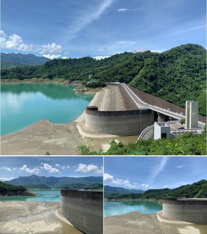 曾文水庫低水位照片