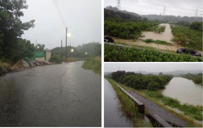 曾文溪水位高漲時堤後內水積淹情形.JPG