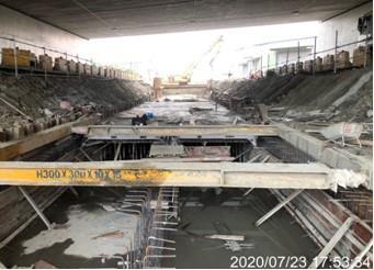 里程1K 640_740 (雨水箱涵施工前開挖擋土)