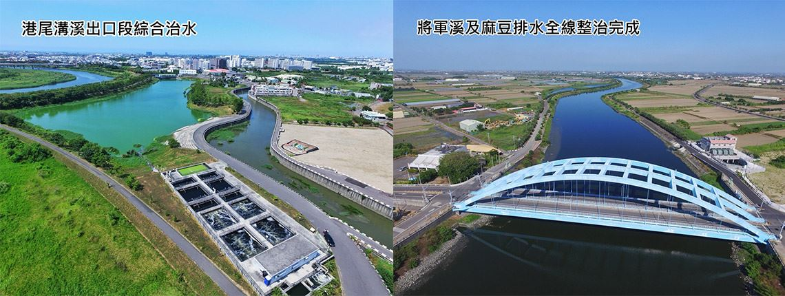 Comprehensive Flood Control Project at Gangweigou River Exit Area//Completed Regulation of Jiangjun River and Madou Drainage