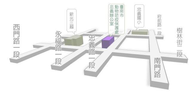 忠義辦公室地圖圖示