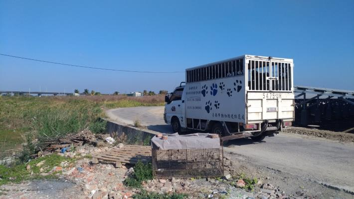 圖一、1月4日當日至北門區玉港里進行遊蕩犬管制勘查,並放置誘捕籠協助捕捉。