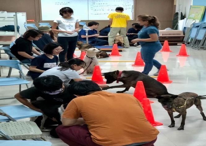 圖二、和狗狗的實作課程有趣生動
