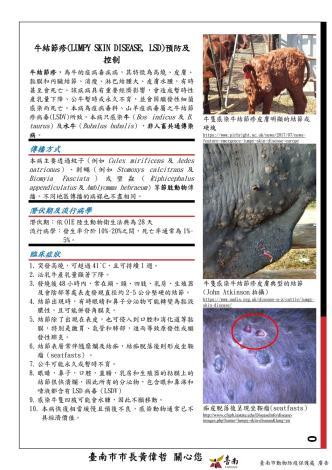 圖四、發放牛結節疹預防及控制宣導單