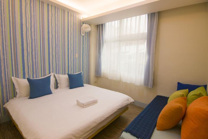 圖七、同心旅棧外貌與房間照片。