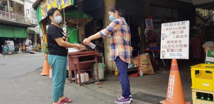 110年菁寮市場防疫宣導照片