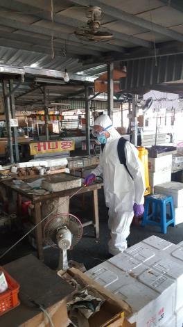 市場夜市加強防疫消毒2