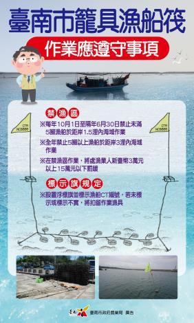 圖四 臺南市籠具漁業管理宣導圖卡