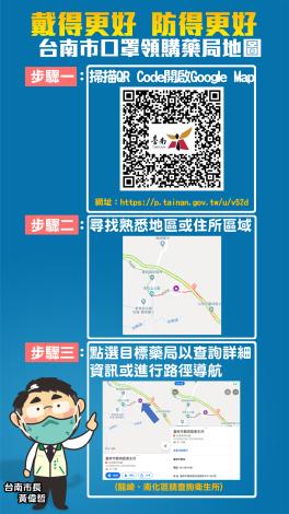 台南市口罩領用藥局地圖