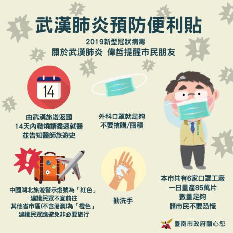 武漢肺炎預防便利貼