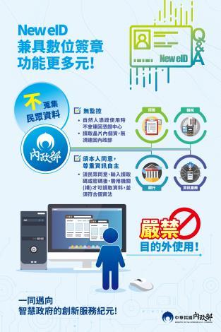 New eID 兼具數位簽章功能 (數位身分識別證宣導海報)