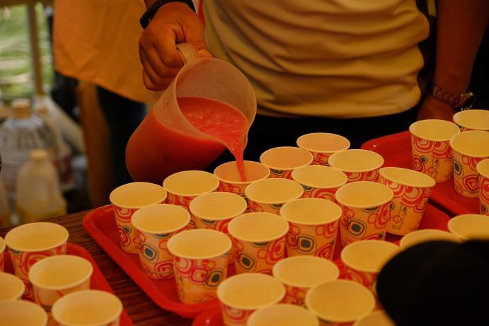 活動當天西瓜汁免費品嚐