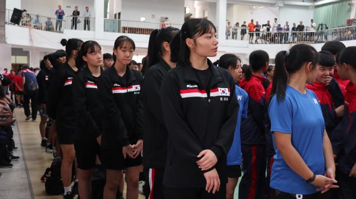 韓國女子代表隊參加開幕
