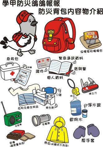 防災背包內容物.JPG