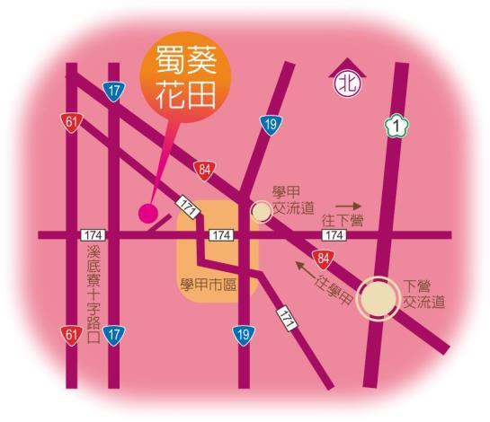 臺南市學甲區光華里蜀葵花園區地圖