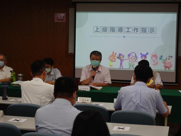 法務部廉政署駐區視察吳武璋致詞及上級指導工作指示