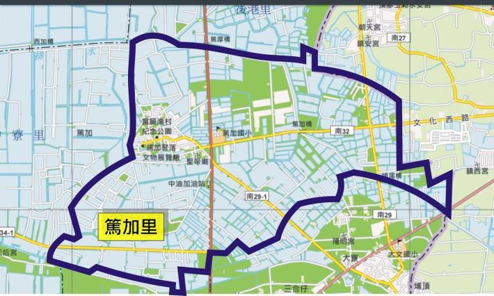 篤加里地圖