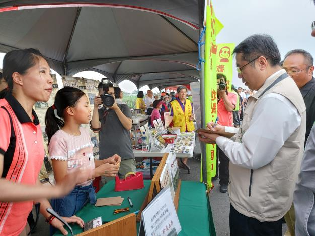 臺南市長黃偉哲寫下鼓勵大內的話語