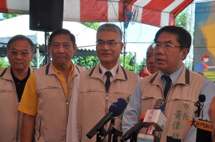 臺南市長接受媒體連訪
