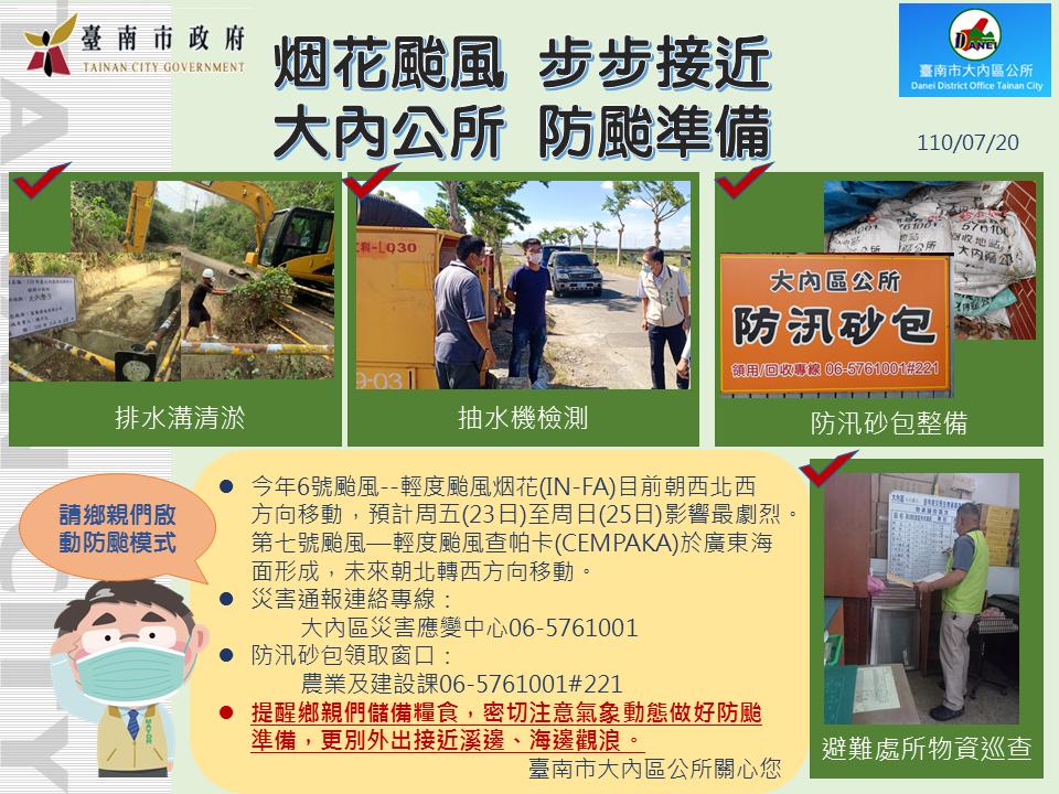 110719煙花颱風 大內區防颱作為