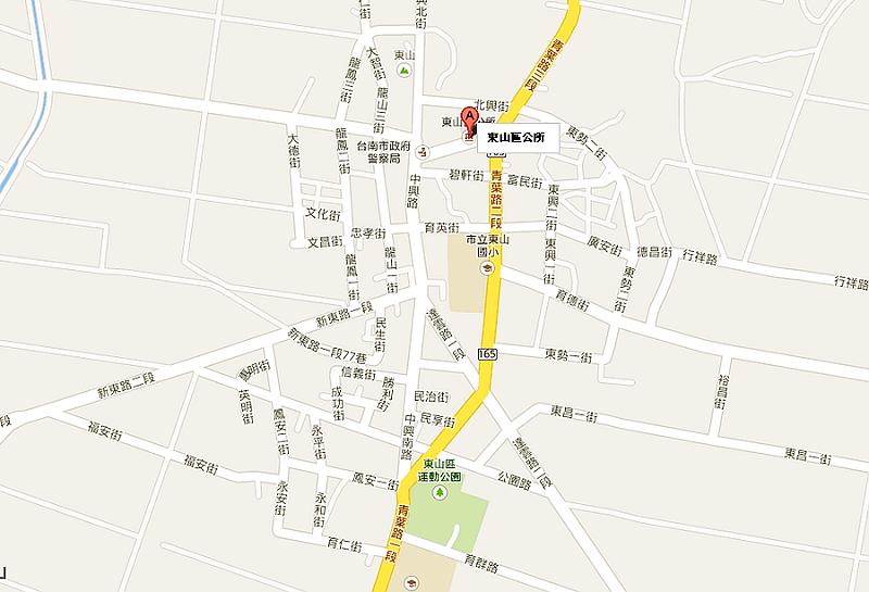 公所位置示意圖-從國道3號白河交流道下-市道172-南165線-所前路-本所