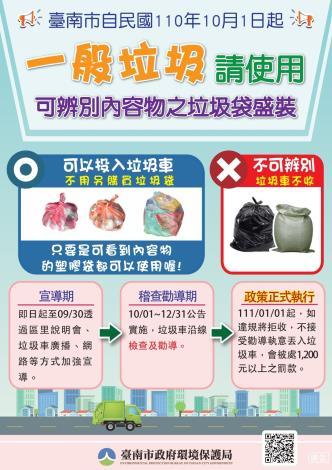 禁用不透明垃圾袋