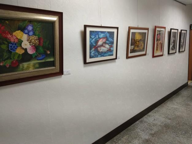 以書法、水彩、油畫與國畫為主要展出作品類別