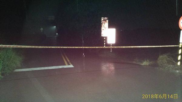 官田南119中脇往社子路段兩側入口預防性封鎖