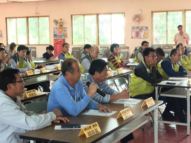 個編組成員代表參加本所召開107年下半年度災害防救會報