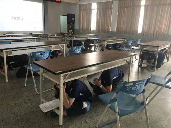 地震發生緊急避難