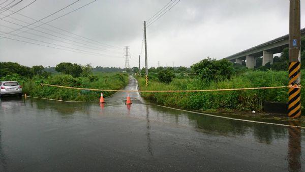 南119線(社子往中脇路段)積水