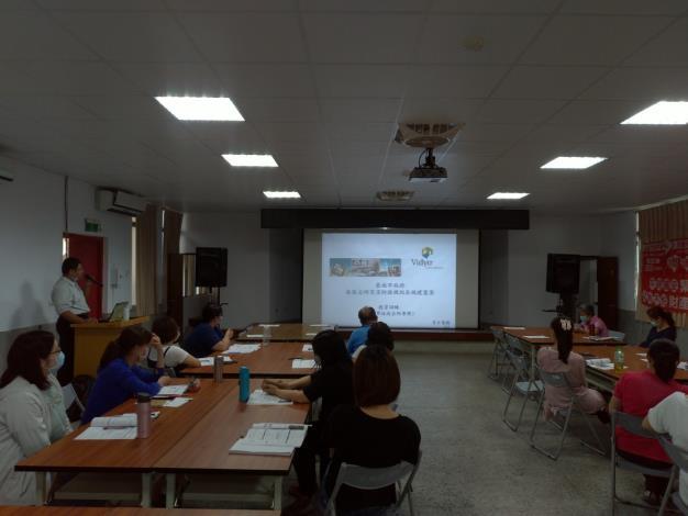講師講解vidyo視訊會議系統操作方式