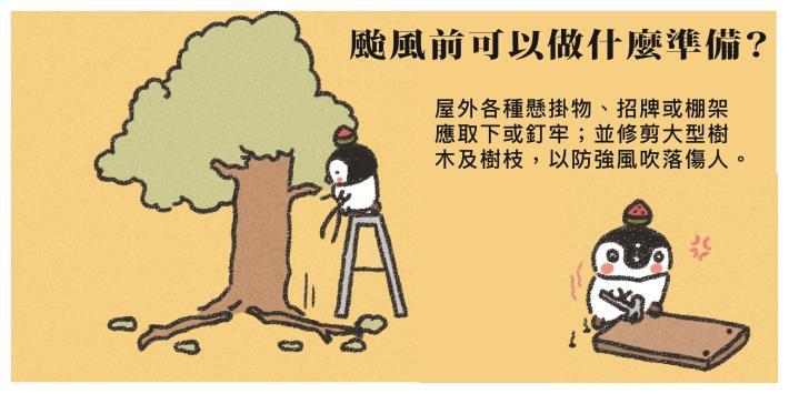 6.戶外懸掛廣告提前固定或拆除、修剪樹枝