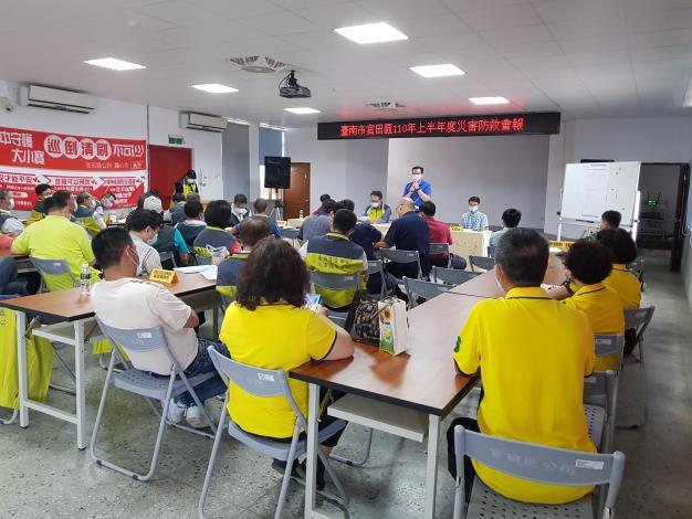 2.市府災害防救辦公室王建智組長提醒各編組於汛期前檢視區排清淤、物資整備