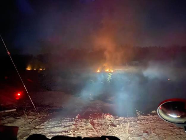 官田消防分隊提供火災畫面