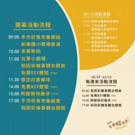2018台南好米季活動流程