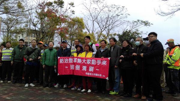 顏副市長蒞臨新嘉里參與本區105年3月環境清潔日照片,共8張
