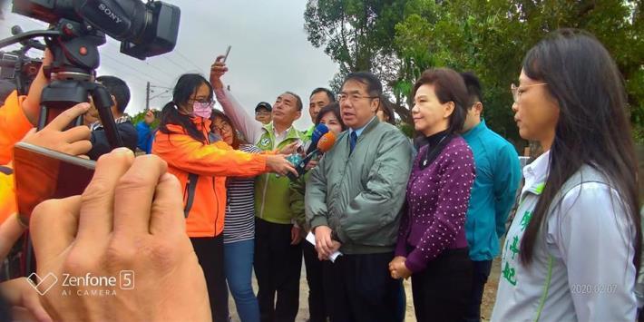 市長視察上茄苳中排一「宜津路」改善工程照片,共16張