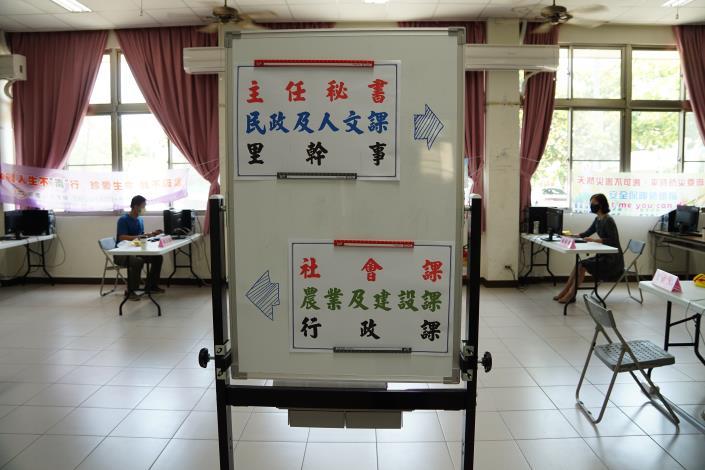分區辦公室課室指示牌