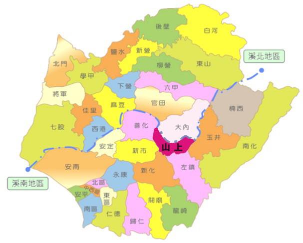 臺南市山上區位置圖