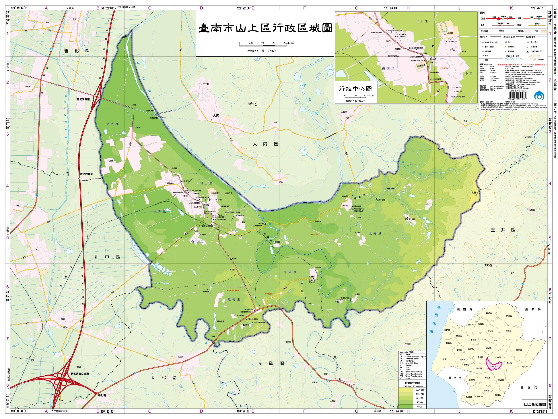 山上區行政區域圖
