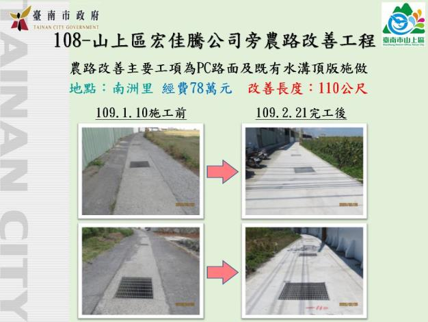 山上區-地方建設-宏佳騰機車旁道路改善