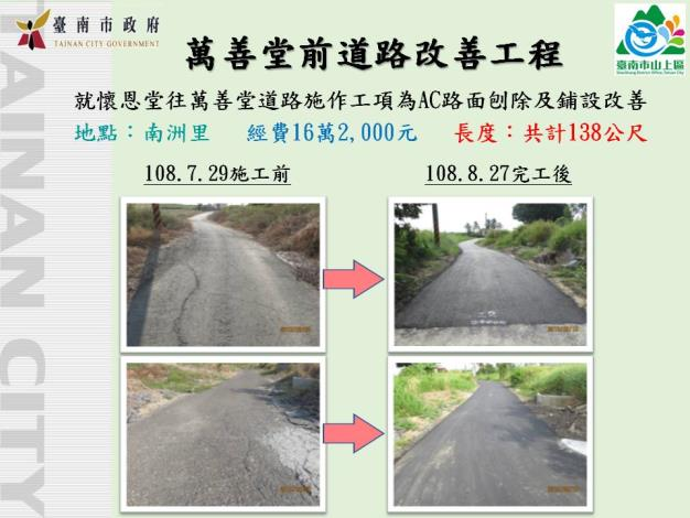 山上區-地方建設-生命紀念館道路改善