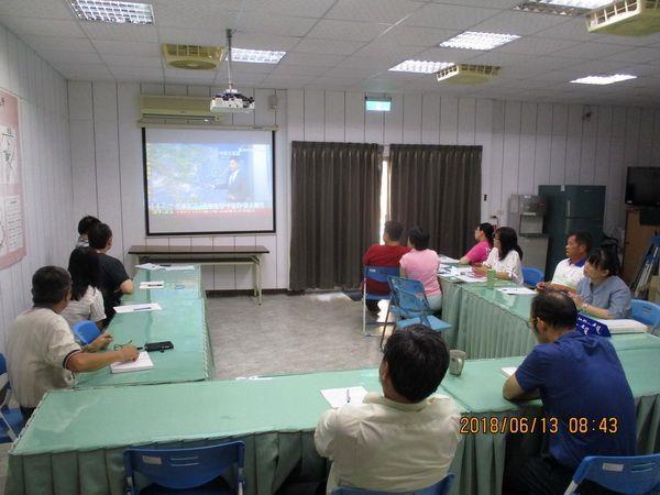 臺南市山上區公所於6月13日上午8時於本所災害應變中心召開防汛整備會議