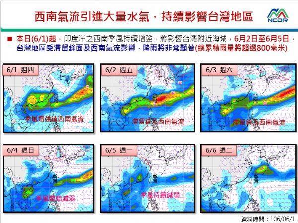 西南氣流影響